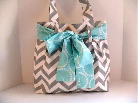 Super Easy Bow Bag - Diaper Bag - Tote - Sewing Tutorial - DIY