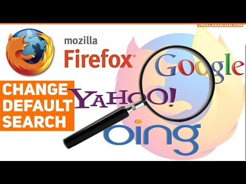 Firefox: How to change default Search Engine
