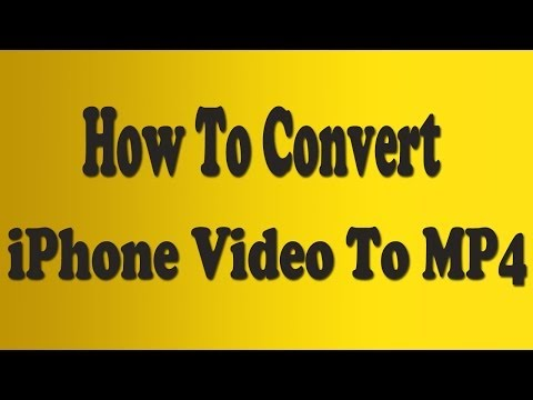 How To Convert iPhone Video To MP4 [Web Format]