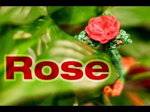 Rainbow Loom 3D Valentines Rose Charm Tutorial - Advanced