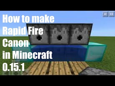 How to Make a Rapid Fire TnT Cannon on Minecraft 0.15.1//New Outro//Very Nice
