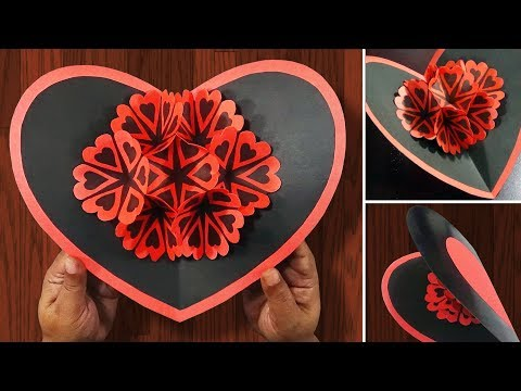 DIY Valentine Card | How To Make A 3d Pop UP Card for valentine's day | Easy And Simple Steps |
