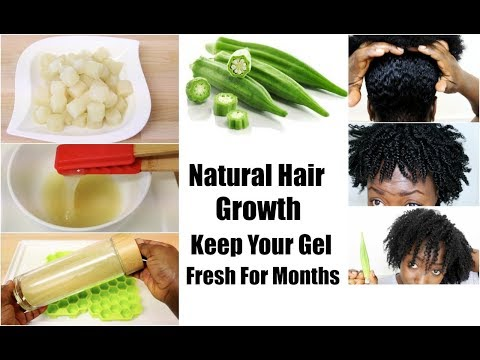 Natural Hair Growth Preserve Okra Gel For Months For Conditioning Detangling and Styling Hair