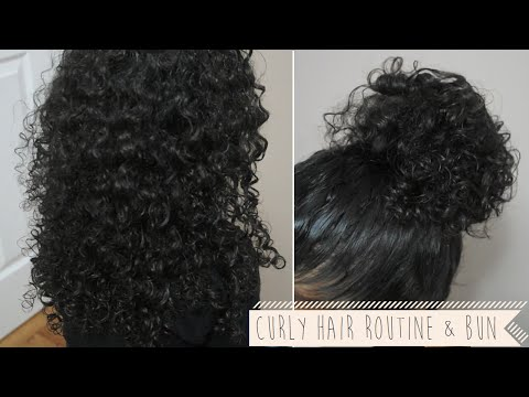 Curly Hair Routine (Wash & go) + a Twisted Bun Updo