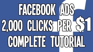 $0.0005 Cpc Facebook Ads In The Usa: Awesome Facebook Advertising Tutorial