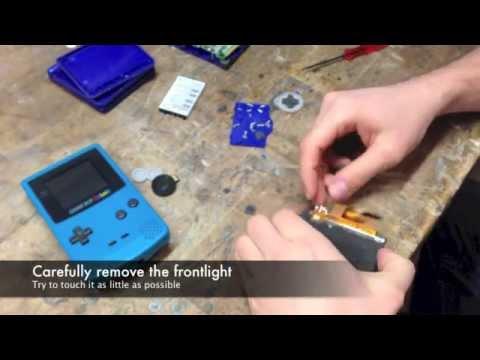DIY: Gameboy Color Frontlight mod [Deutsch / english]
