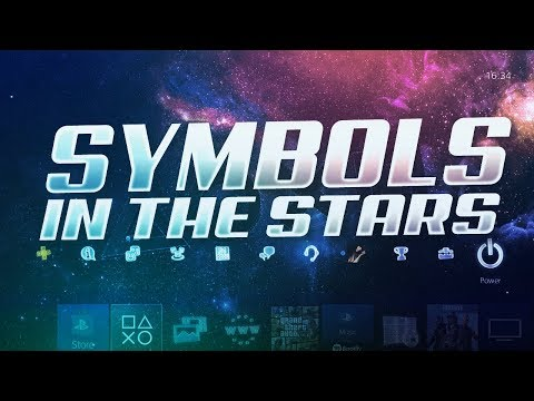 How To Get E3 PS4 Theme Symbols in the Stars Dynamic Theme World Wide!
