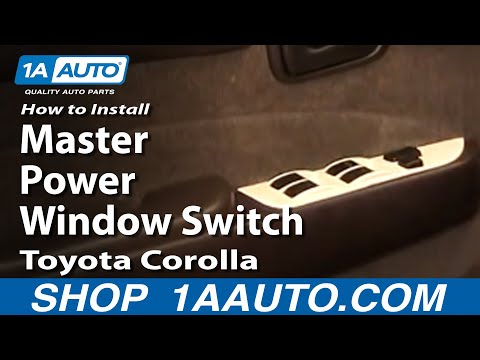 How To Install Replace Master Power Window Switch Toyota Corolla 93-96 1AAuto.com