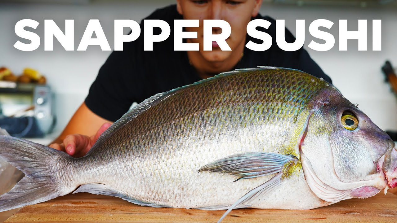 Making Sushi from a Whole Snapper