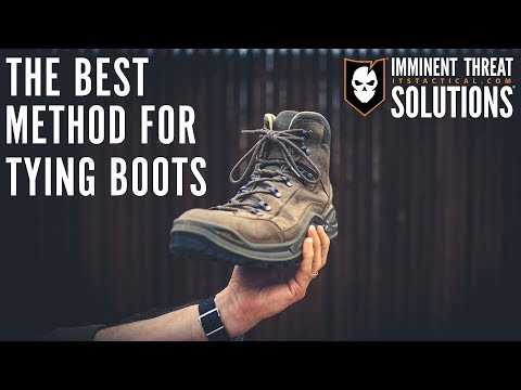 Avoid Blisters By Using This Boot Tying Method