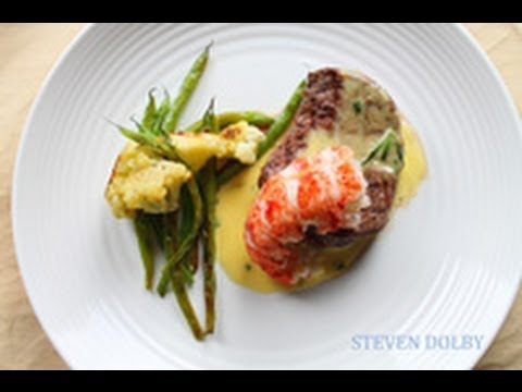 Filet Mignon and Lobster tail with Bearnaise sauce recipe (Valentine's recipe)