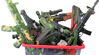 Box of Toys ! GUNS BOX Toys Military & Police equipment ! What