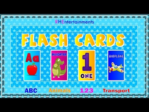 FLASH CARDS FOR KIDS LEARNING |Best Toddler Learning Video for Kids| RHEntertainments