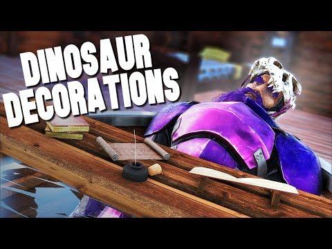 DECORATING OUR DINOSAUR BASE! - Ark Survival Evolved (Modded)