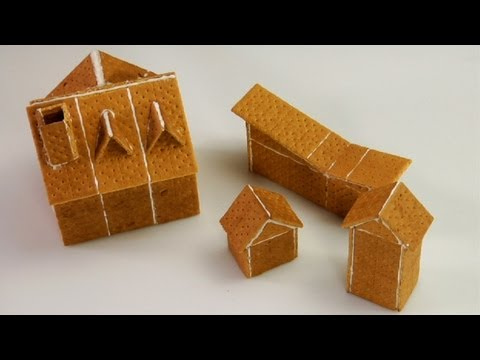 Assembling Graham Cracker Gingerbread Houses