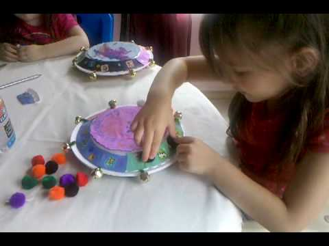 #4 Girls Making Tambourines