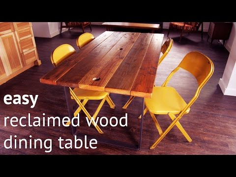 How to make an easy reclaimed wood dining table
