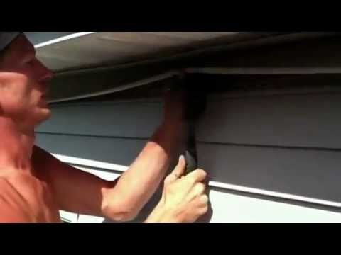HOW TO REPLACE  A DAMAGED PANEL OF VYNAL SIDING