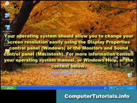 How To Change Screen Resolution In Windows XP, Windows Vista, and Windows 7