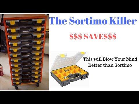 DIY Organizer for HarborFreight Storage Boxes like Sortimo Storage Rack