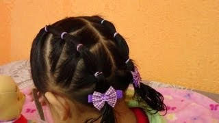 Peinado En Ligas Cauchos O Cintas Para Ocasion Especial Ninas