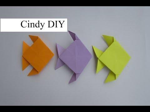 Origami Fish easy tutorial for kids | DIY Fish papar Craft 3D | Cindy DIY