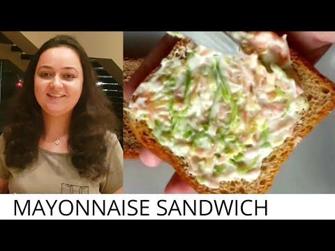 Veg Eggless Mayonnaise Sandwich I How to make mayo sandwich recipe