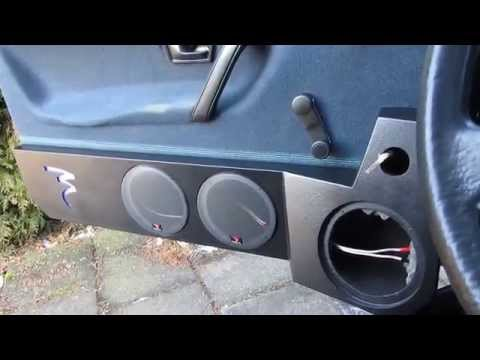 Custom Car Audio Door Speaker Panel Box Build Part 8