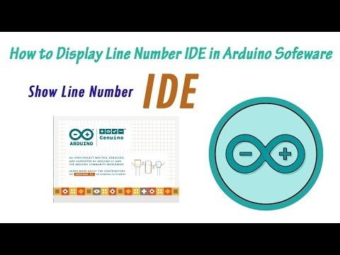 How to Display Line Number in Arduino IDE