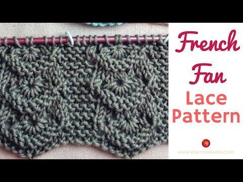 French Fan Lace Knitting Pattern - Flower Knitted Pattern - Lace Knitting