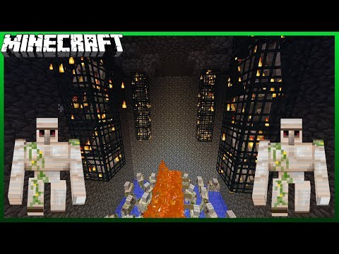How To Build An Iron Golem Farm! (Factions/Skyblock)