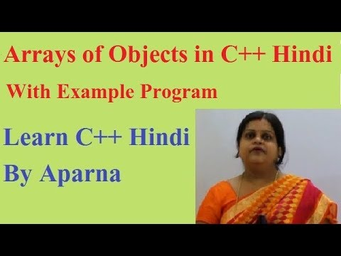 Arrays of Objects in C++  Hindi  With Example Program