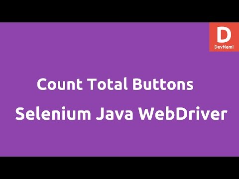 Total number of Buttons Selenium Java Webdriver