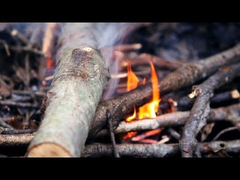 How to Make a Fire in Wet Conditions | Camping