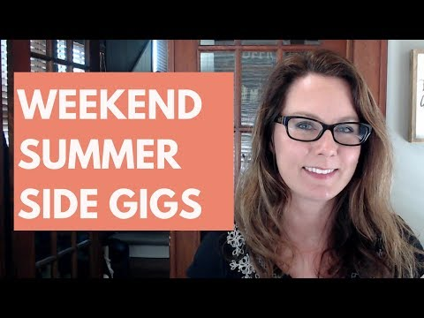 Summer Side Jobs for Extra Money on the Weekend