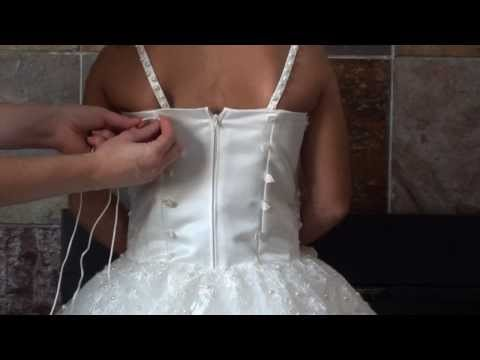 How To lace Up A Corset Back Gown