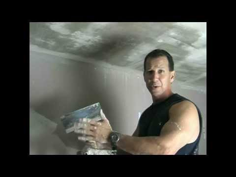 Remove popcorn ceilings