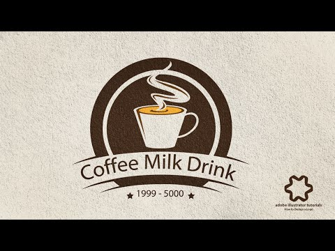 Adobe Illustrator CC - Coffee Vintage Logo Design (No Speed art) - Drink Coffee Cup Logo
