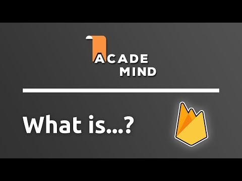 What is Firebase - academind.com Snippet