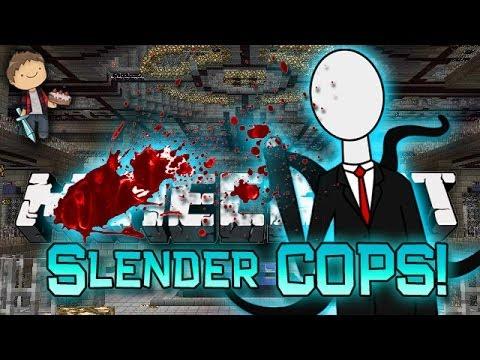 Minecraft: Modded Cops n' Robbers! w/Mitch & Friends - Slender Horror Mods!