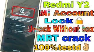 Redmi Y2 mi account unlock Videos - 9tube tv