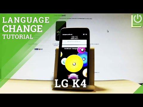 How to Change Language in LG K4 LTE K130E - Language Settings