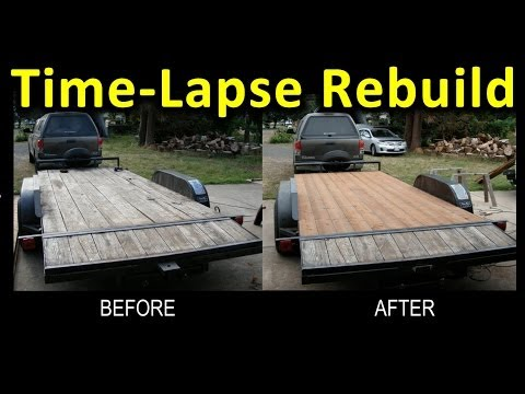 Time-Lapse Trailer Deck Rebuild (Narrated) (GoPro pics at 2 second intervals)