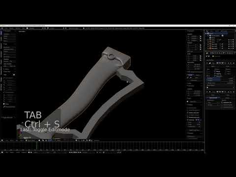 Modeling Sayaka Miki's sword for 3d printing
