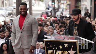 Eminem Praises 50 Cent's Hustle At Hollywood Walk Of Fame Honor