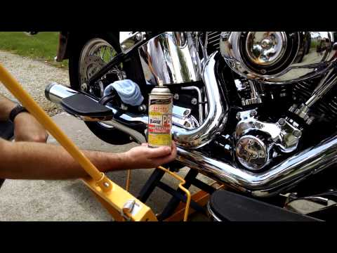 How to remove burnt rain suit off muffler exhaust
