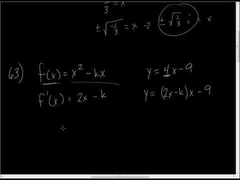 Derivatives - Horizontal Tangent and Find K.wmv