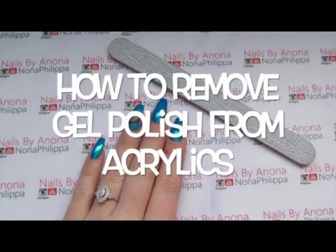 How To Remove Gel Polish From Acrylic Nails