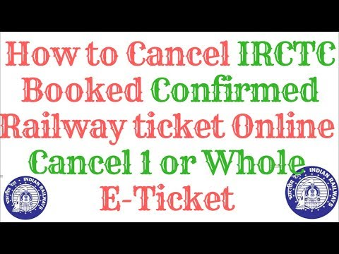 How to Cancel IRCTC Booked Railway Ticket