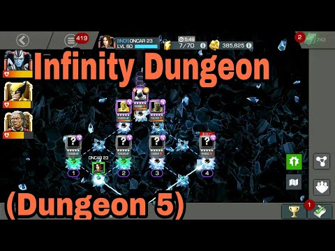 Infinity Dungeon ( Dungeon 5 ) || Marvel Contest Of Champions